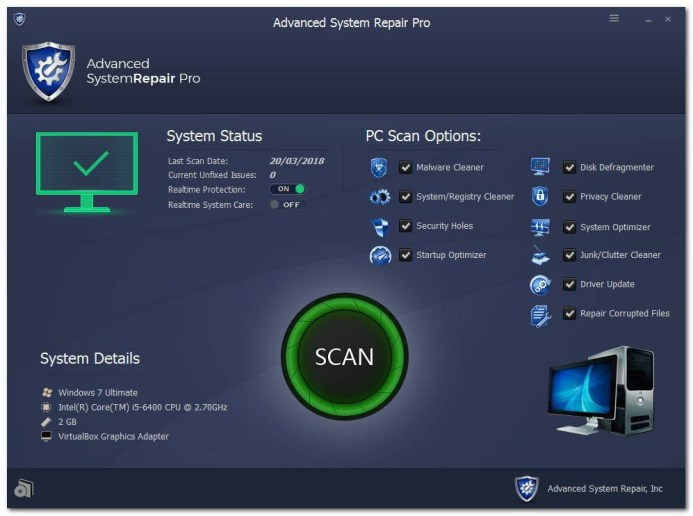 Advanced System Repair Pro 1.9.3.5 Crack+Licence Key Full Download